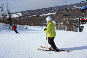 Skiing at Trout Creek Condominium Resort.