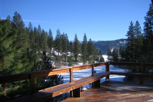 Deck view at Idaho Cabin Keepers.