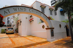 Exterior view of At Wind Chimes Inn.