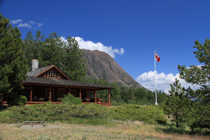 Exterior view of Tsuniah Lake Lodge.