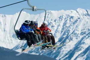 Skiing at Lodge Tower.