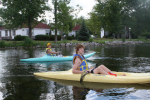 Kayaking at Fern Resort.