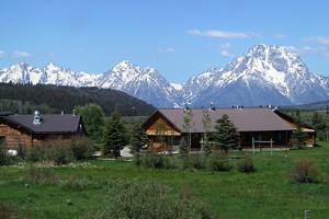 Exterior View of Luton's Teton Cabins