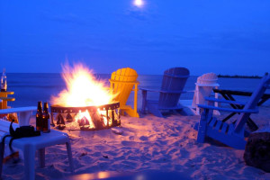 Beach Fire Pit at Beachfront Inn