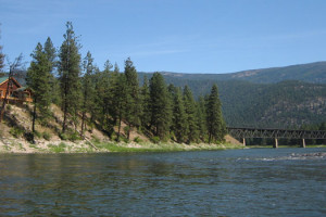 The Lower Clark Fork River at Clark Fork River Lodge.