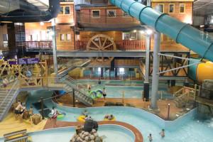 Indoor waterpark at Double JJ Resort.