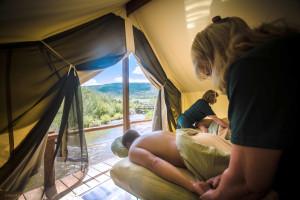 Spa tent at C Lazy U Ranch.