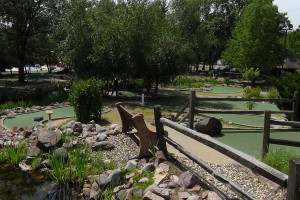 Mini golf at Yogi Bear's Jellystone Park Warrens.