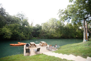 Dock at Geronimo Creek Retreat.