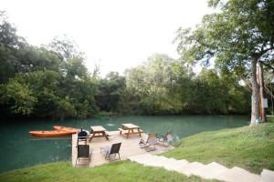 Dock at Geronimo Creek Retreat.