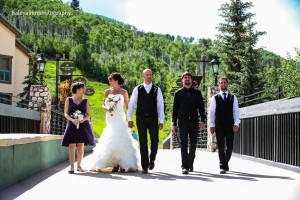 Wedding party at The Osprey at Beaver Creek, A Rock Resort.