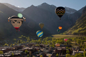 Hot air balloons at Accommodations in Telluride.