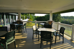 Deck patio at The Leland Lodge and Conference Center.