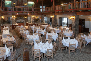 Dining at Fairmont Le Chateau Montebello.