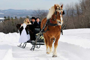 Winter wedding at Steele Hill Resort.