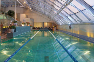 Indoor pool at Lowndes Hotel.