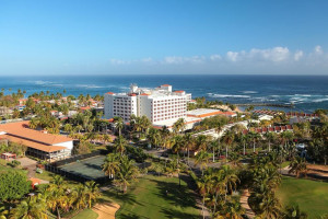 Aerial view of Embassy Suites Dorado del Mar.