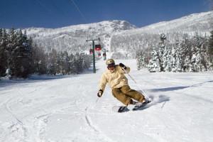 Skiing near The Green Mountain Inn.