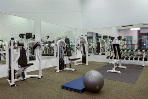 Gym at Fairmont Le Chateau Montebello.