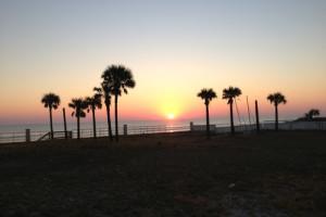 Sunrise on the beach at Fountain Beach Resort.