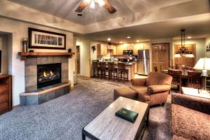 Guest condominium at Grand Timber Lodge.