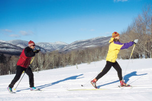 Cross country skiing at Willough Vale Inn and Cottages.