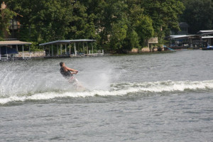 Water skiing at Point Randall Resort.