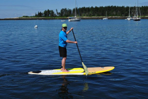 Paddle boarding at Sebasco Harbor Resort.