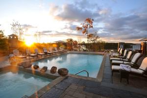 Outdoor pool at JW Marriott The Rosseau Muskoka Resort & Spa.
