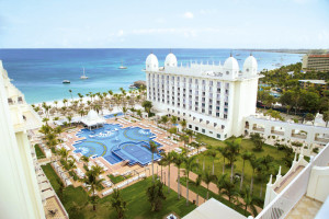 Outdoor pool at Hotel Riu Palace Aruba.