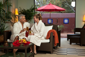 Spa lounge at Sedona Rouge Hotel.