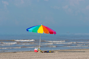 The beach at A B Sea Resorts.