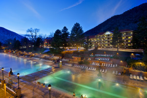 Exterior view of Glenwood Hot Springs.