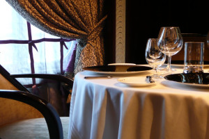 Romantic dining at Coachman's Golf Resort.
