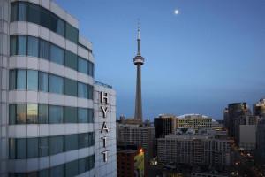 Exterior view of Hyatt Regency Toronto.