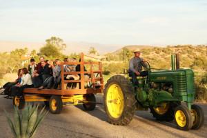 Hay rides at Rancho De Los Caballeros.