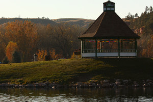 Gazebo at Canyon Lake Resort.