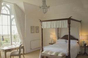 Guest room at Penally Abbey Country House.