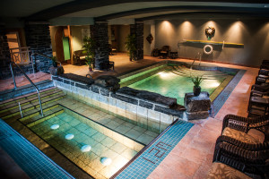 Indoor pool at Delta Banff Royal Canadian Lodge.