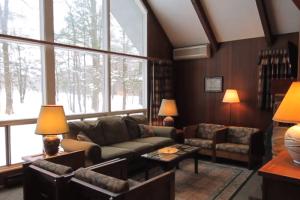 Cottage interior at Mountain Springs Lake Resort.