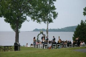 Outside wedding at Bay Shore Inn.