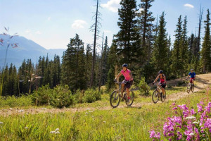 Biking at Grand Timber Lodge.