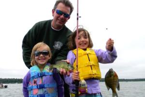 Kids Fishing at Janetski's Big Chetac Resort
