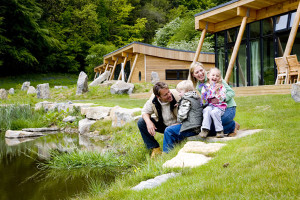 Family enjoying their stay at Yorkshire Dales.