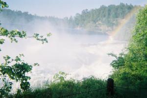 Waterfall near Hochatown Country Lodge.
