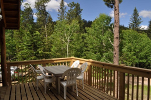 Cabin deck at Deadwood Connections.