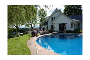 Vacation rental pool at Stowe Country Homes.
