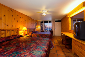 Pet friendly room at Big Horn Lodge.