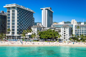 Beach at Moana Surfrider, A Westin Resort & Spa, Waikiki Beach.