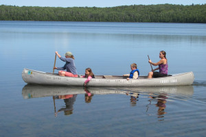 Canoeing at Trout Lake Resort.
